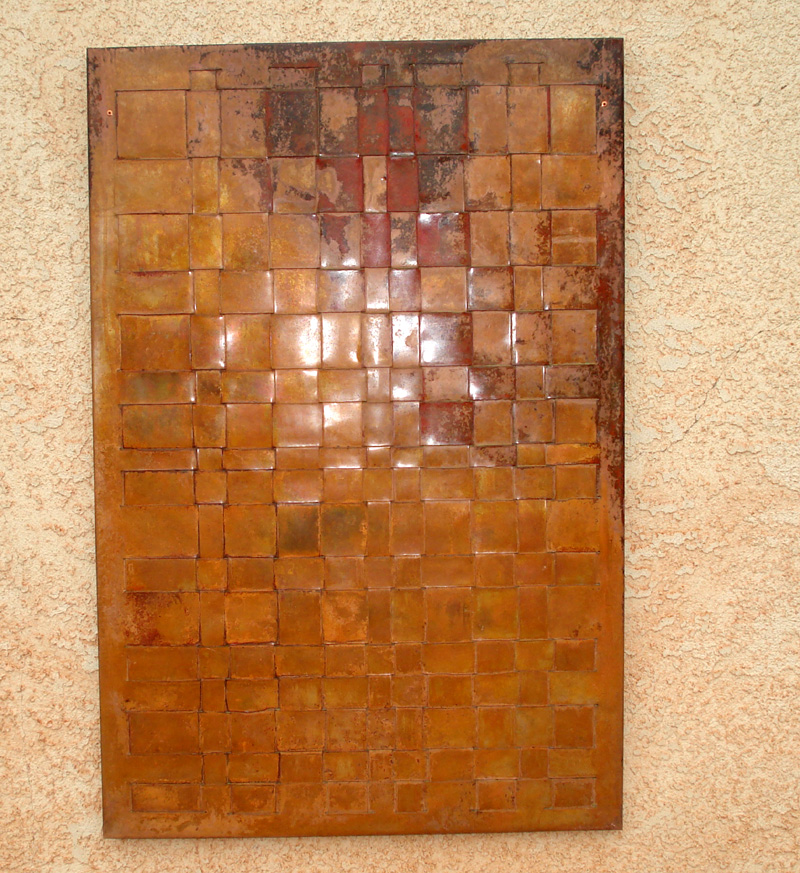 Woven copper wall art mike dumas copper designs blog for Copper wall art