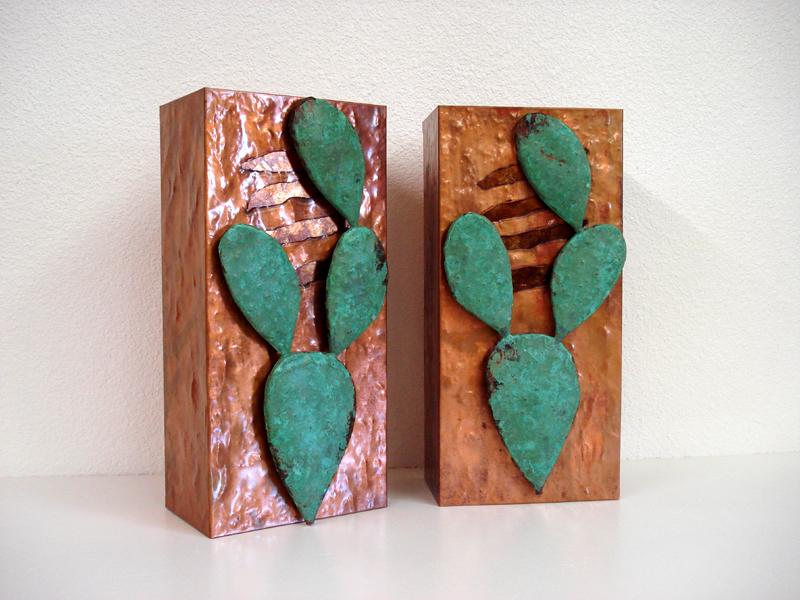Copper Cactus Light Sconce