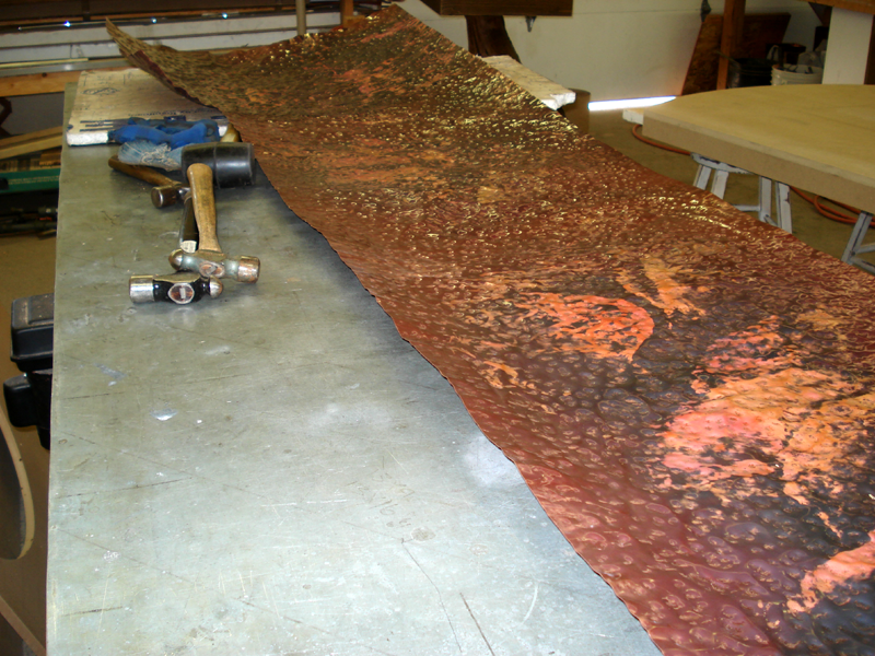 Copper Dining Table in the Making Mike Dumas Copper Designs Blog