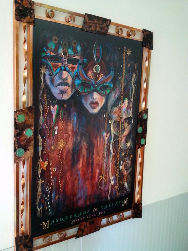 Custom Frame for Fine Art Print by Gina Grel- Frame by Mike Dumas Copper Designs Inc. http://mikedumascopperdesigns.com