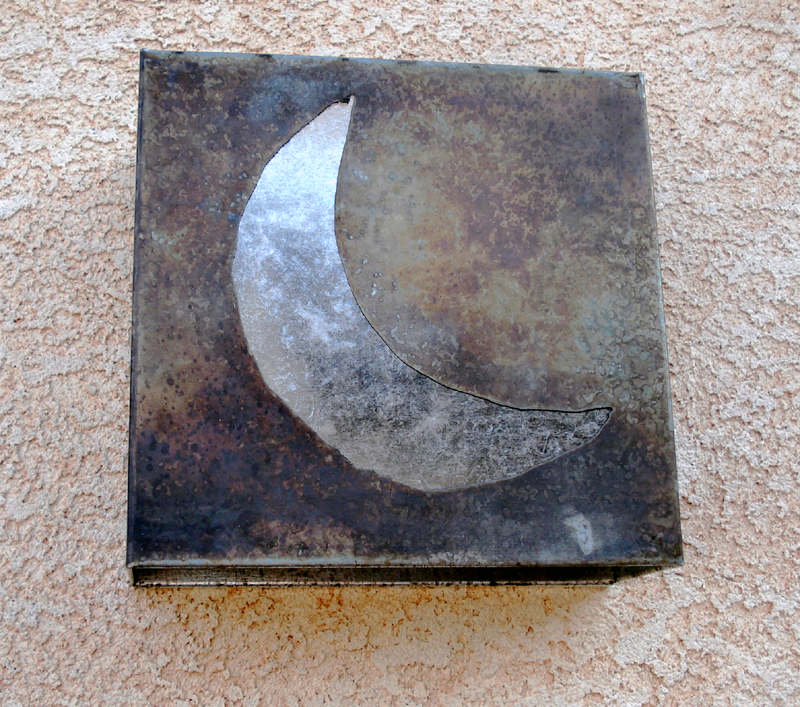 Silver Moon Light Sconce by Mike Dumas Copper Designs Inc.