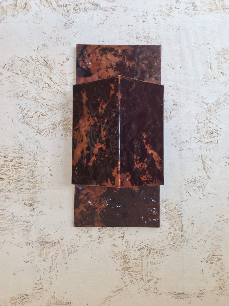 Slate Textured Copper Light Sconce
