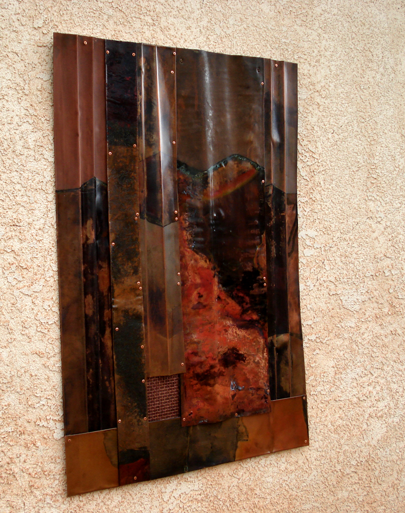 Textured Copper Wall Art