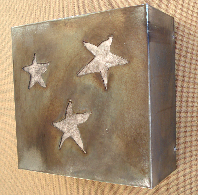Silver Stars Square Light Sconce