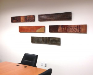 Horizontal Copper Art