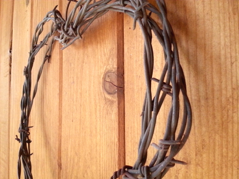 Barbed Wire Wreath by Julie Dumas