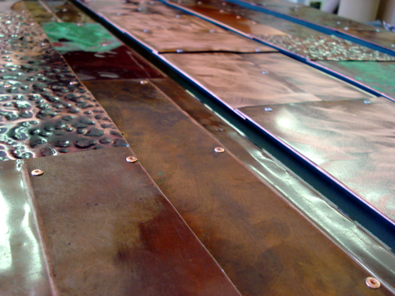 Copper Art in Production