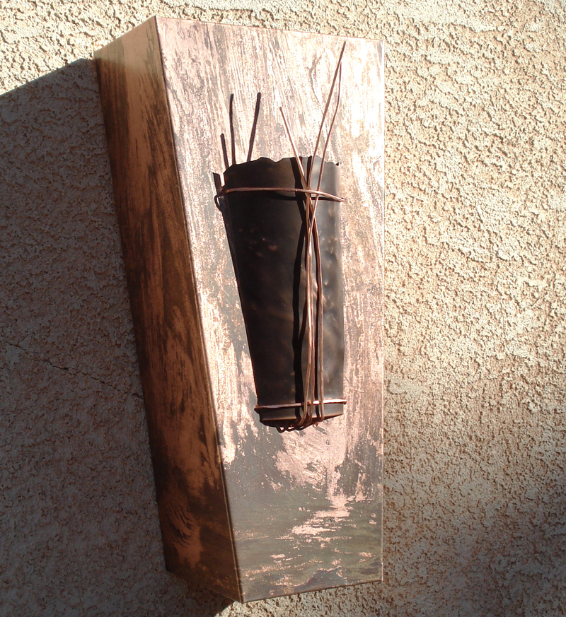 Copper Pocket Light Sconce by Mike Dumas Copper Designs Inc.