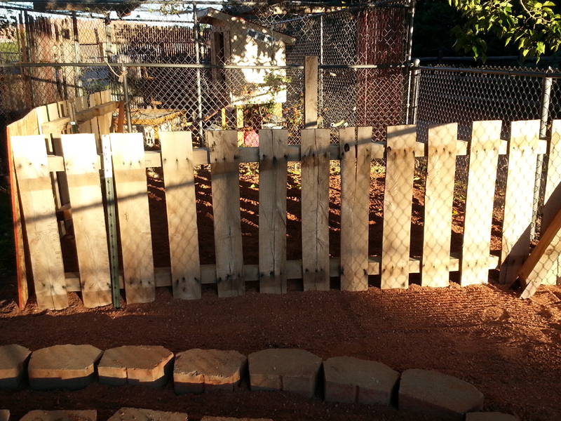 Pallet Fence by Mike Dumas Copper Designs