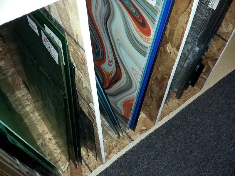 Glass Racks at Mike Dumas Copper Designs Inc.