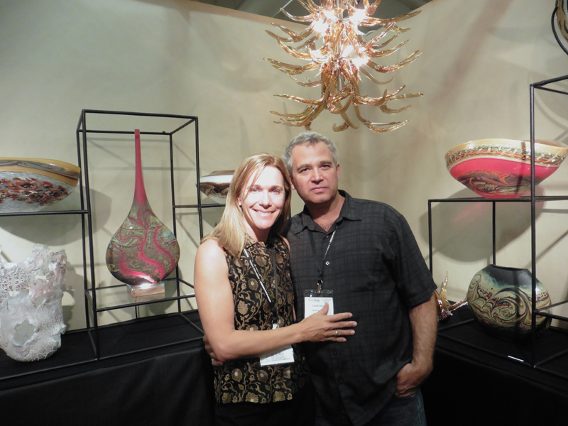 Jared and Nicole Davis of North Rim Glass Studio- at the 2014 Western Design Conference