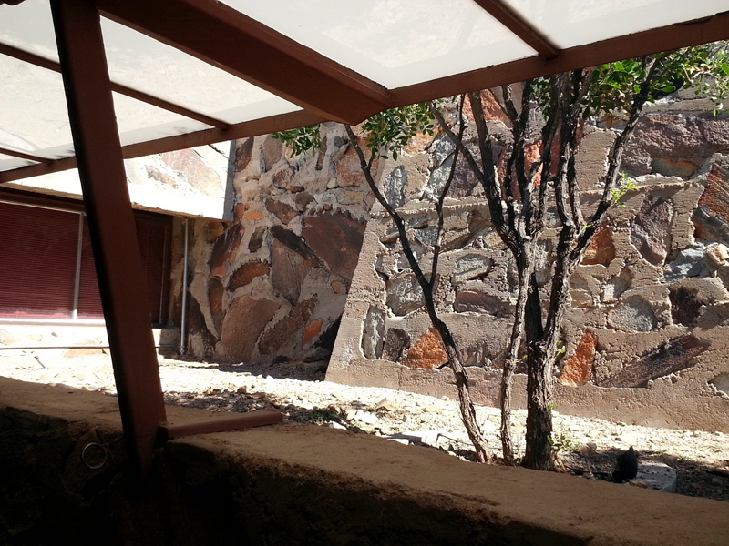 Concrete and Stone Walls at Taliesin West with http://mikedumascopperdesigns.com
