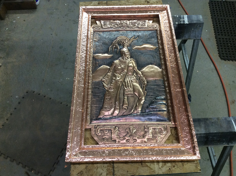 Copper Frame and restoration work done by Mike Dumas Copper Designs Inc. http://mikedumascopperdesigns.com/