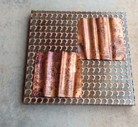 Copper+Steel // metal art // negative space copper design by Mike Dumas Copper Designs.