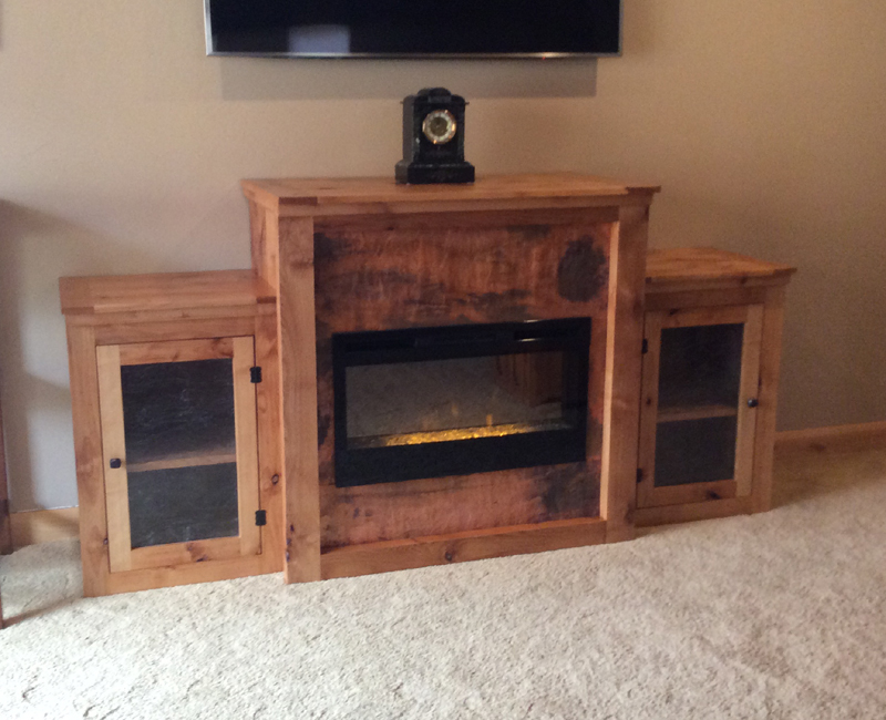 Copper Wood Custom Furniture Fireplace Cabinet Made By Mike Dumas