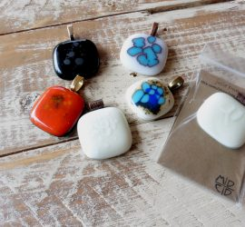 glass jewelry // fused glass // bold summer colors by julie Dumas of Mike Dumas Copper Designs.