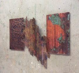 Rustic style // copper // three piece // wall art by Mike Dumas Copper Designs