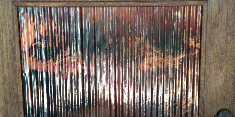 Corrugated copper // door panels // metal art // Mike Dumas Copper Designs
