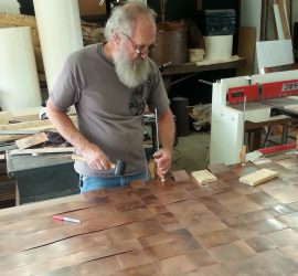 Doors // woven // Copper Barn Door by Mike Dumas Copper Designs
